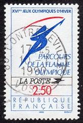 timbre: Parcours de la flamme olympique 6ex. + NOTE