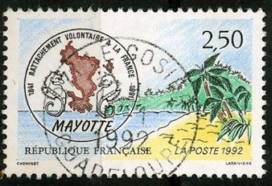 timbre: Mayotte  3ex.