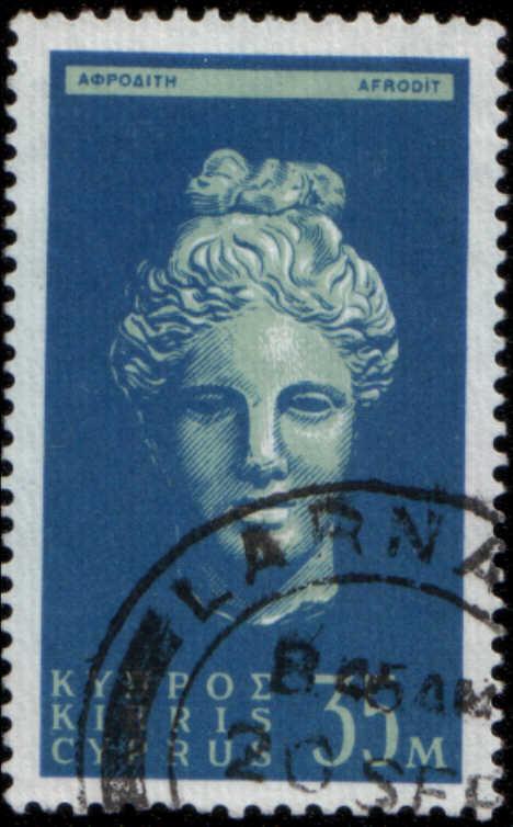 timbre: Tête de sculputure d'Aphrodite