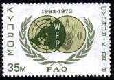 timbre: 10e anniv. de la FAO