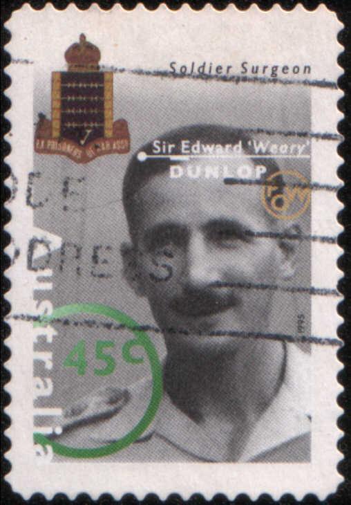 Timbre: Sir Edward ''Weary'' Dunlop, chirurgien de l'armée