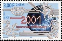 Timbre: 2001 Nouveau millénaire