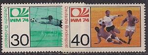 Timbre: Coupe du monde de football en Allemagne(la paire)