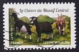 Timbre: La Chèvre du Massif Central