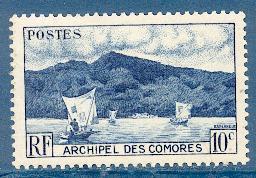 Timbre: Baie d'Anjouan.
