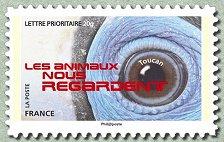 Timbre: Les animaux nous regardent - Toucan