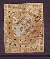 Timbre: Cèrès émission de Bordeaux