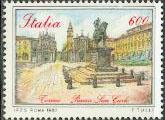 Timbre: Place San Carlo à Turin