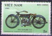 Timbre: Motocyclette Cleveland de 1918