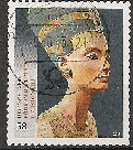 Timbre: Buste de Nefertiti (adh)