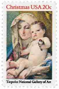 Timbre: Christmas -  toile de Tiepolo