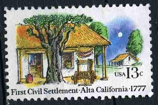 Timbre: 200è anniv du 1er établissement civil à Alta