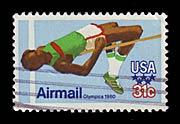 Timbre: Jeux Olympiques de 1980 - saut en hauteur