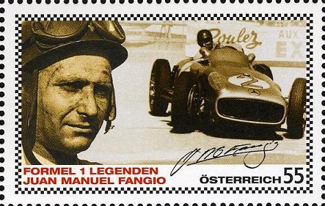 Timbre: F1 Juan Manuel Fangio