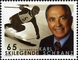 Timbre: 70ème anniversaire de Karl Schranz