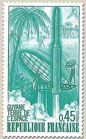Timbre: Guyane - Terre de l'espace