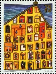 Timbre: Friedensreich Hundertwasser fête ses 80 ans