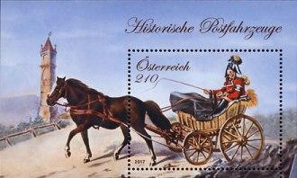 Timbre: Histoire de la poste  Le Bloc Neuf ou OR