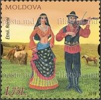 Timbre: Groupes ethniques de Moldavie *2ex*