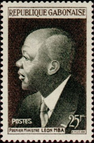 timbre: Premier ministre Léon Mba