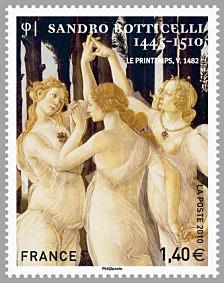timbre: Les trois Grâces - Sandro Botticelli