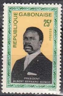timbre: * Président Albert Bernard Bongo