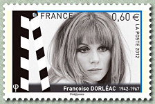 timbre: Cinéma - Françoise Dorléac