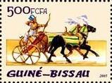 timbre: Égypte, archer sur un char