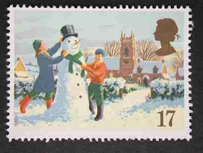 Timbre: Bonhomme de neige 17p* x4