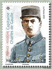 Timbre: Capitaine Charles de Gaulle
