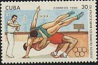 Timbre: Barcelona '92   Lutte (1ex)
