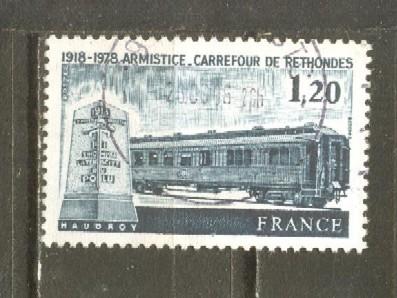 Timbre: 60°anniversaire de l'Armistice de Rethondes.