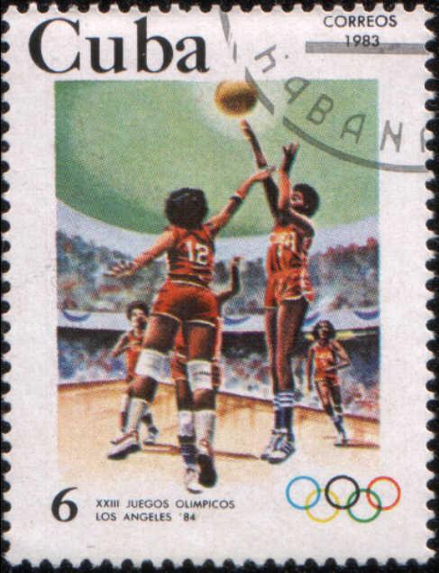 Timbre: XXIIIes JO Los Angeles, basket ball