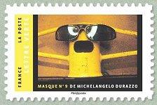 Timbre: Masque n°9 de Michelangelo Durazzo