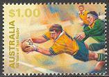 Timbre: Rugby : match contre l'Afrique du Sud
