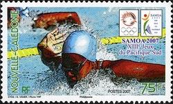Timbre: Jeux du Pacifique Sud - Nageur
