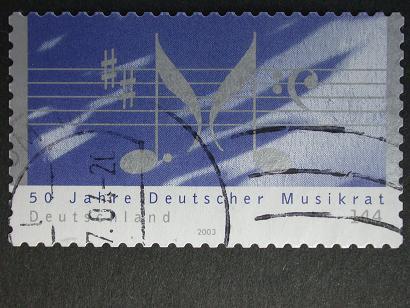 Timbre: 50eme anniv Deutscher Musikrat