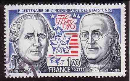 timbre: Indépendance des Etats-Unis