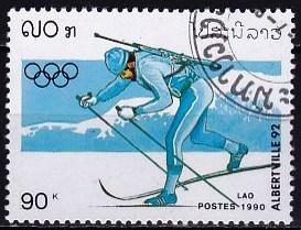 timbre: JO d'Albertville - Biathlon