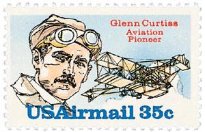 Timbre: Pionnier de l'air - Glenn Curtiss