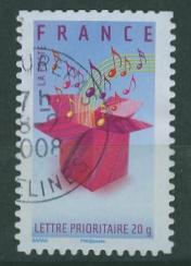 Timbre: Boîte et notes de musique (4086)