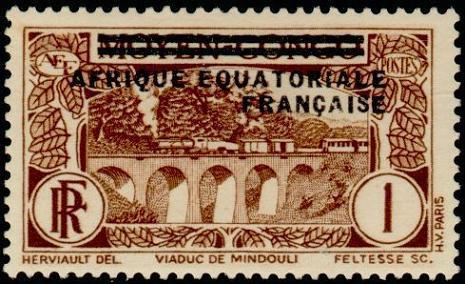 Timbre: Viaduc de Mindouli - Surchargé
