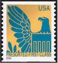 Timbre: Détail Aigle sur Sceau américain