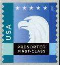 Timbre: Tête de l'aigle américain