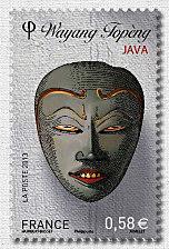 Timbre: Masques Wayang Topèng