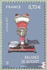 Timbre: Balances postales  Balance de guichet