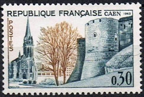 Timbre: 36ème congrès philatélique à Caen