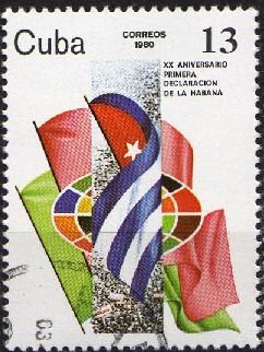 Timbre: 20ème anniv. de la déclaration de La Havane