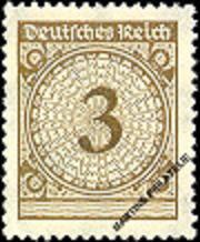 Timbre: République de Weimar - Chiffre