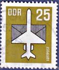 Timbre: Avion stylisé